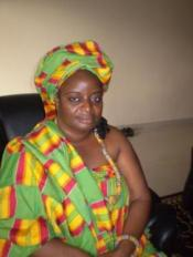 Esther Dama recipient of the funds to start a sewing center to minister to the ladies in her area