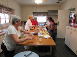 Preparing a meal for others